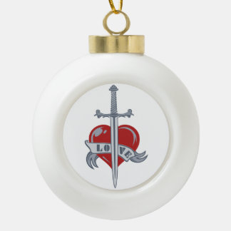 Love Sword custom Christmas ornament