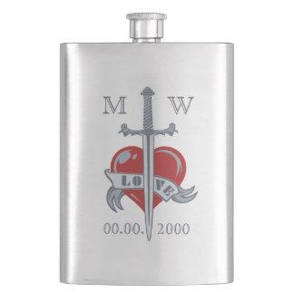 Love Sword custom flask