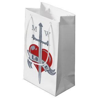 Love Sword custom monogram gift bags