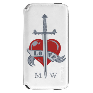 Love Sword custom monogram wallet cases Incipio Watson™ iPhone 6 Wallet Case