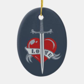 Love Sword custom ornament