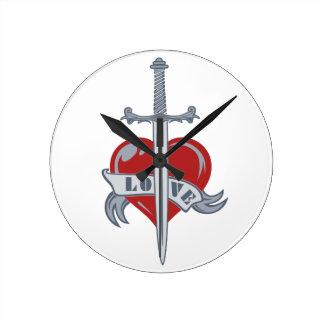 Love Sword custom wall clock