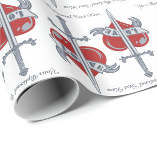 Love Sword custom wrapping paper