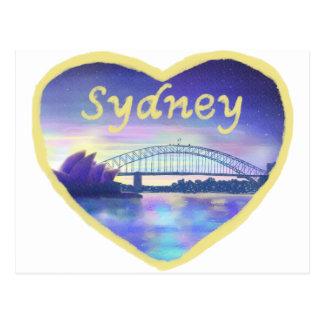 Love Sydney novelty art greetings postcard