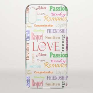 Love Synonyms by Shirley Taylor iPhone X Case