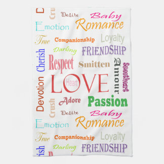 Love Synonyms by Shirley Taylor Tea Towel