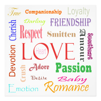 Love Synonyms Photographic Print