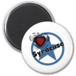 Love Syracuse 6 Cm Round Magnet