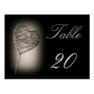 Love Table Number Postcard