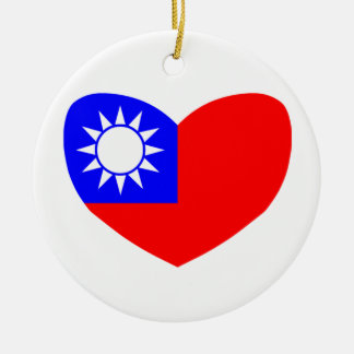 Love Taiwan Round Ceramic Decoration