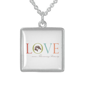 Love TAPS Square Necklace
