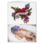 Love Tattoo Valentines Day Photo Greeting Card