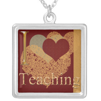 Love Teaching Square Sterling Silver Necklace