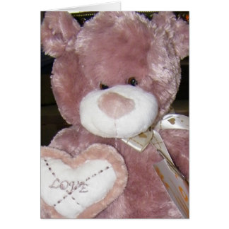 LOVE TEDDY BABY ADOPTION CONGRATS GREETING CARD