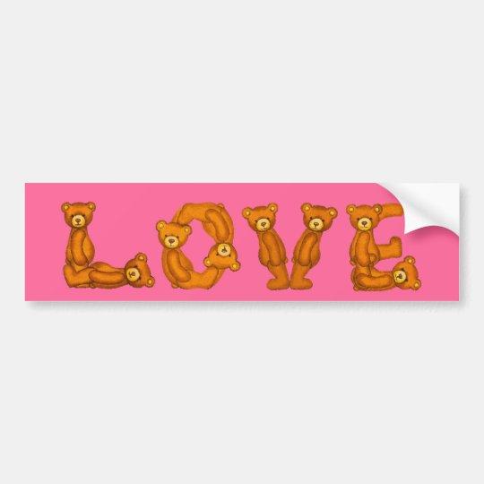 Love~Teddy Bear Letter Alphabet~Customise~Sticker Bumper Sticker