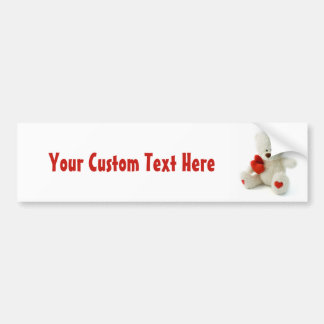 Love Teddy Valentine custom bumpersticker Bumper Sticker
