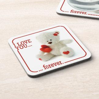 Love Teddy Valentine custom coasters