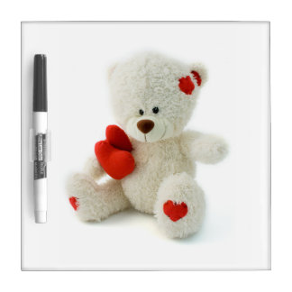Love Teddy Valentine custom message boards Dry Erase White Board