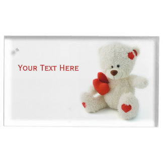 Love Teddy Valentine custom table card holder