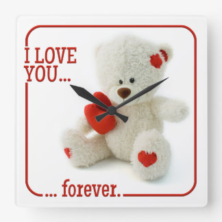 Love Teddy Valentine custom wall clock