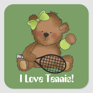 Love tennis ball bear customizable sticker