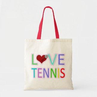 LOVE TENNIS BUDGET TOTE BAG