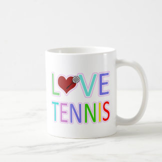 LOVE TENNIS COFFEE MUG