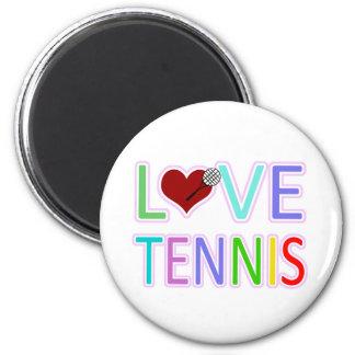 LOVE TENNIS FRIDGE MAGNET