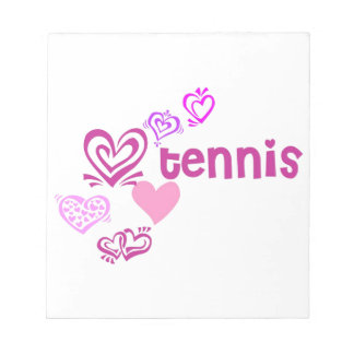 Love Tennis Notepad