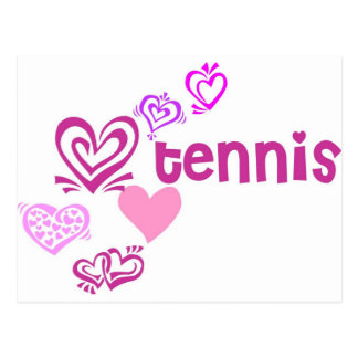 Love Tennis Postcard