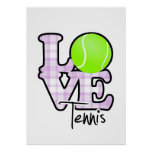 Love Tennis Poster