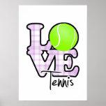 Love Tennis Print