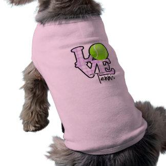 Love Tennis Sleeveless Dog Shirt