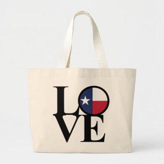 LOVE Texas Cotton Jumbo Grocery Tote