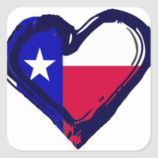 Love Texas - Flag in Heart Stickers