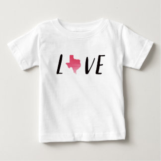 Love Texas Pink Watercolor Toddler Shirt