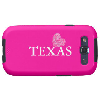 Love Texas-with Pink Heart Samsung Galaxy S3 Case