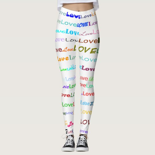 Love Text Design II Leggings