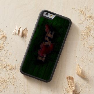 love text graffiti walnut iPhone 6 bumper case