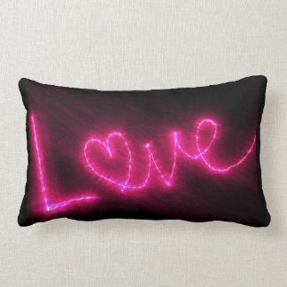 Love Text In Hot Pink Throw Pillow Cushion