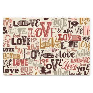 Love text letters design tissue paper