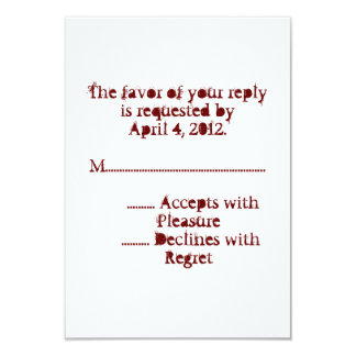 Love Text Reply Cards in Merlot Invitations