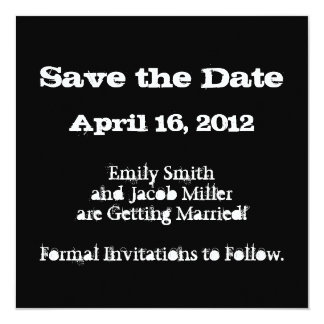 Love Text Save the Date in Merlot Personalized Announcements
