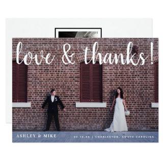 Love & Thanks 2 Photo Wedding Announcement