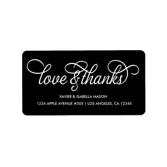 Love & Thanks | Custom Background Colour Label