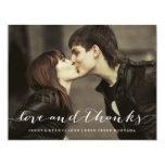 LOVE & THANKS SCRIPT | WEDDING THANK YOU PHOTO CUSTOM INVITE
