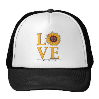 Love that Sunflower Peace Sign Trucker Hat