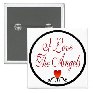 Love The Angels 15 Cm Square Badge