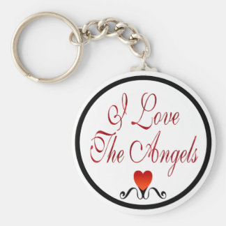 Love The Angels Basic Round Button Key Ring