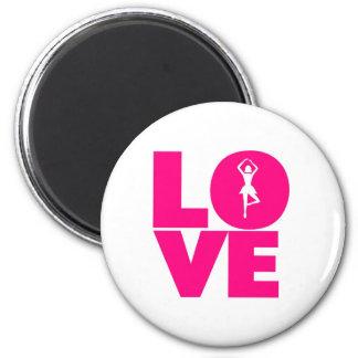 Love the ballet 6 cm round magnet